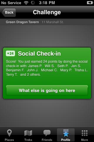 Social Check in