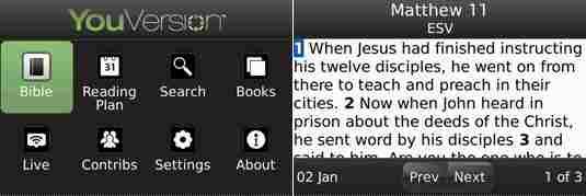 Biblia para BlackBerry
