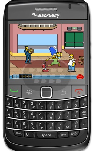 Juegos para Blackberry The Simpsons Arcade