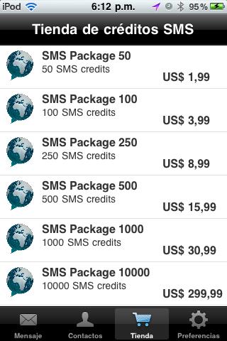 sms gratis desde el iphone 5