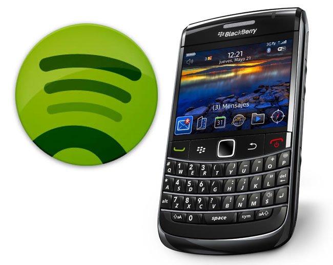 spotify blackberry
