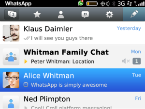 whatsApp para Blackberry 3