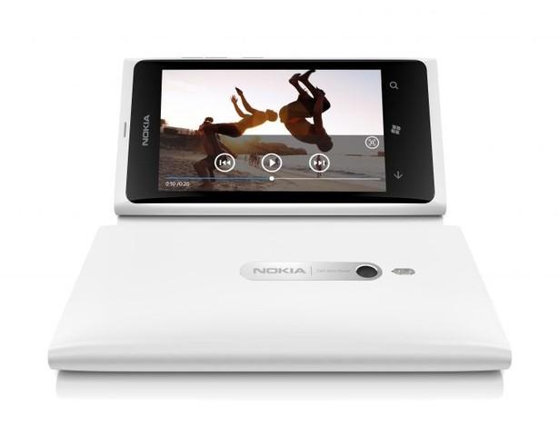 Nokia Lumia 8000 de color blanco