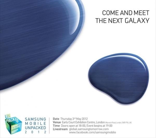 presentacion de Samsung presentará el Galaxy SIII el 3 de mayo en Londres