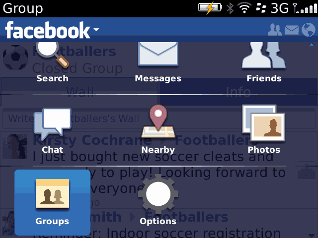 Facebook 3.1.0.16 a Blackberry