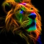tema Neon lion