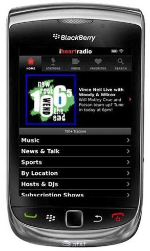 Aplicaciones para Blackberry: Radio Online