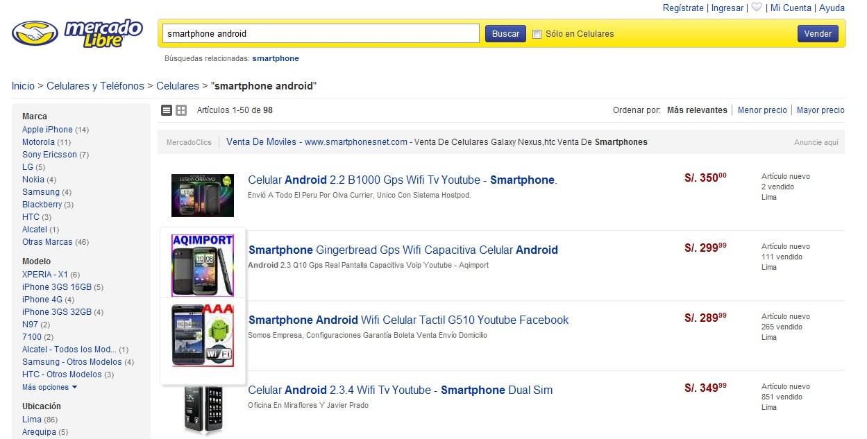 Comprar un Smartphone con Android