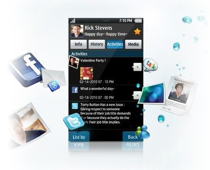 Samsung Galaxy S - Social Hub