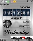 Tema Nokia Digital Clock-Marca