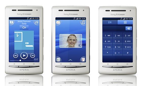 Temas para Sony Ericsson Xperia X8