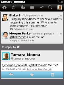 Twitter gratis para BlackBerry