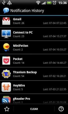 Notification History para Android