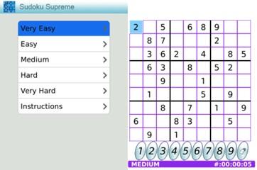 Sudoku Supremo para BlackBerry