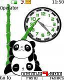 tema Panda Clock-Animal
