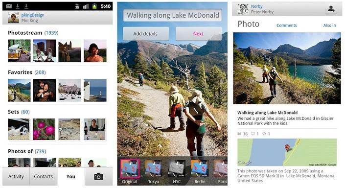 Flickr muestra una nueva actualización para Android