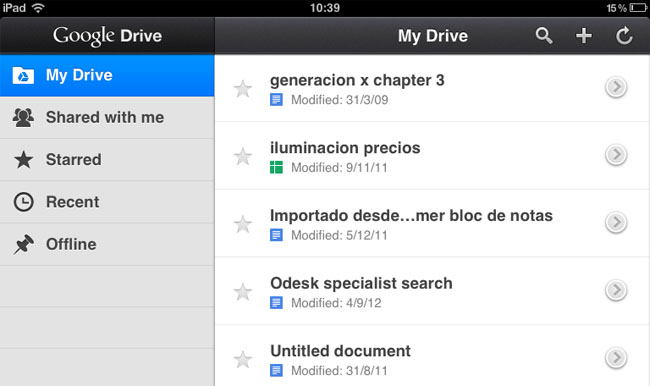Google Drive Iphone