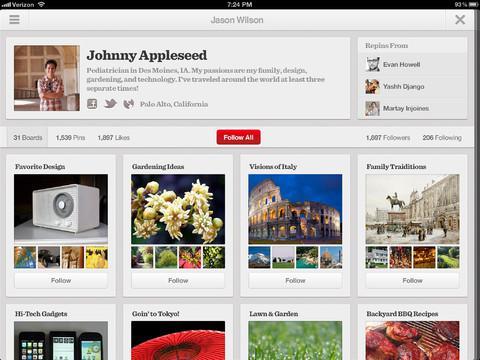 Pinterest en iPhone, fija todo lo que desees desde tu móvil