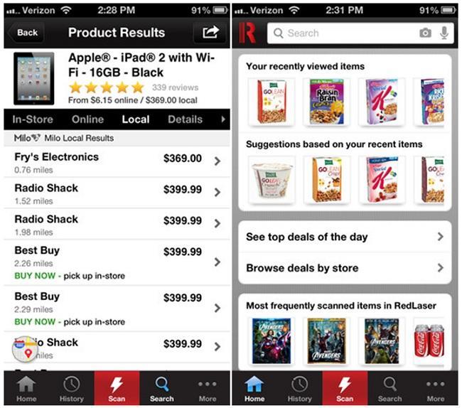 RedLaser, mira precios y en dónde también poder comprarlos