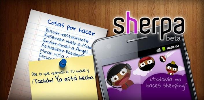 Sherpa, un nuevo asistente de voz en Android
