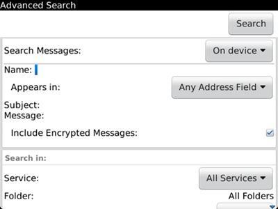 Cinco sugerencias de búsqueda en el BlackBerry