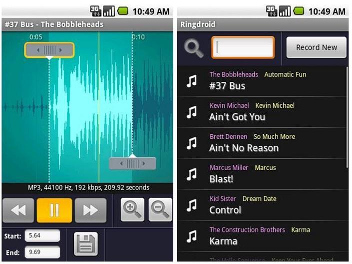 Aplicaciones para Android, música en tu dispositivo móvil