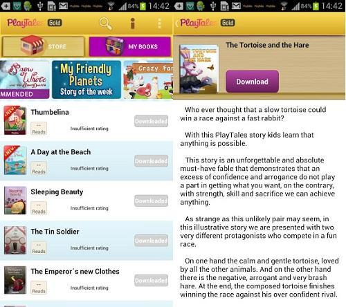 Aplicación gratis para Android: PlayTales Gold