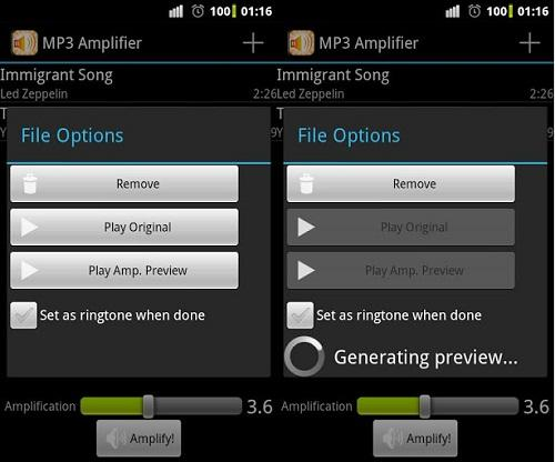 Aplicacion para Android: MP3 amplifier
