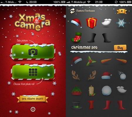 Aplicación para iPhone: Navidad Camera