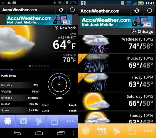 AccuWeather para Andriod