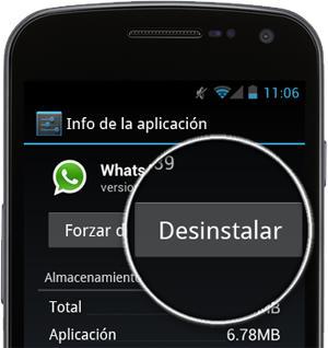 instalar y desinstalar WhatsApp desde mi dispositivo Android