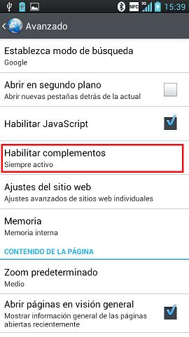 Cómo instalar Adobe Flash Player en el dispositivo Android