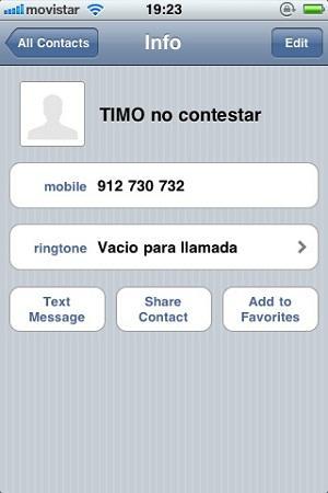 """bloquear un """"número no deseado"""" en mi iPhone"""