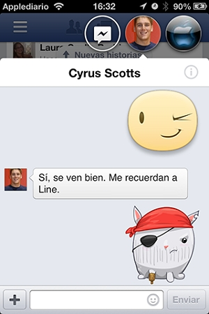 fabebook chat para iphone6