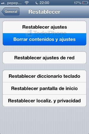 preparar tu dispositivo iOS para regalar o vender