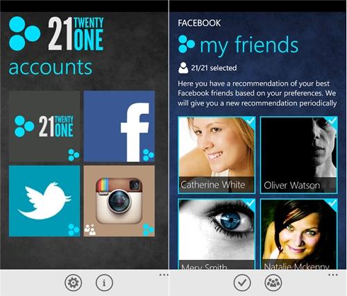 TwentyOne para Windows Phone