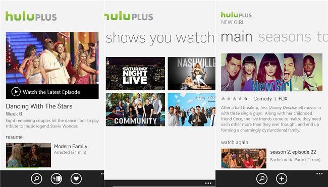 Hulu Plus para Windows Phone 8