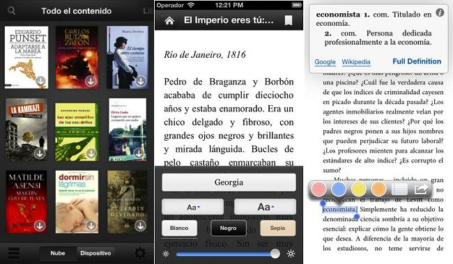 Kindle par iOS