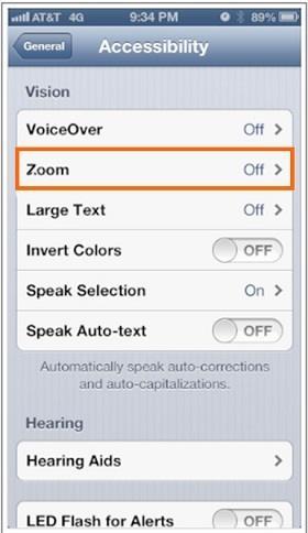 aumentar la pantalla de mi iPhone