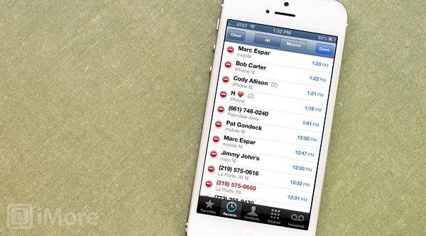 borrar los registros de llamadas individualmente en tu iPhone