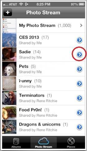 comparto Photo Stream con mis amigos y familiares que no usan un iPhone o iPad