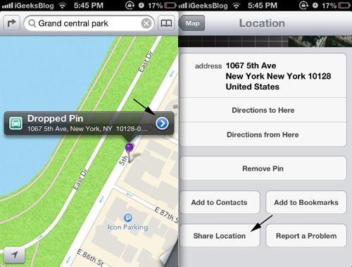 compartir mapas de apple1