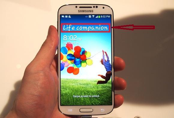 mensaje de bloqueo del Samsung Galaxy S4