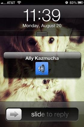 enviar mensajes de voz mediante iMessage desde iPhone