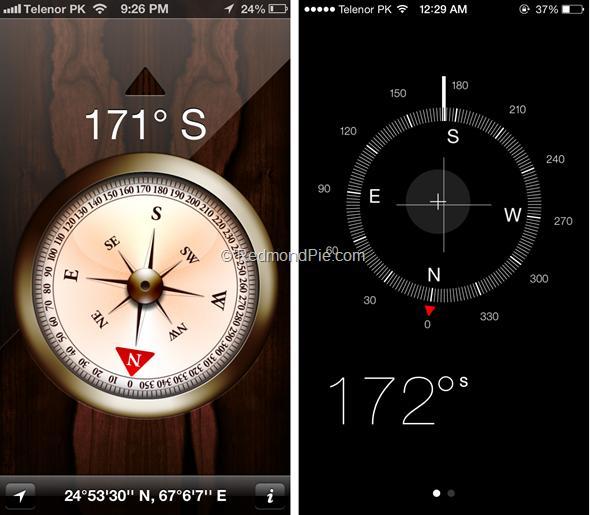iOS 7 vs iOS 6-5