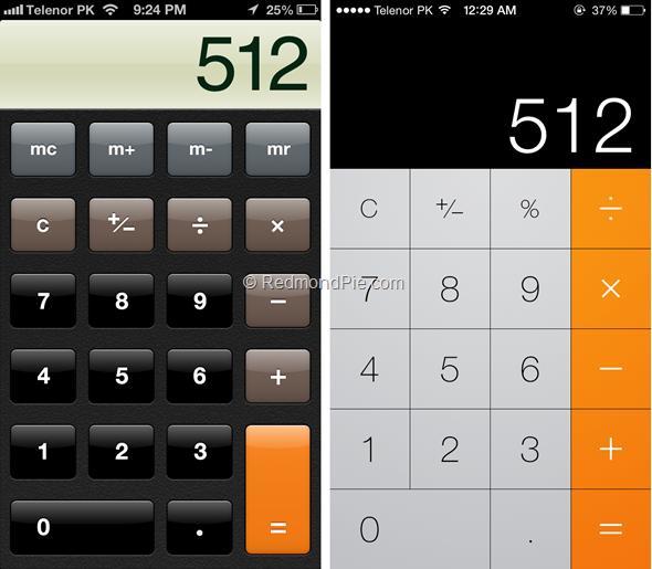 iOS 7 vs iOS 6-7