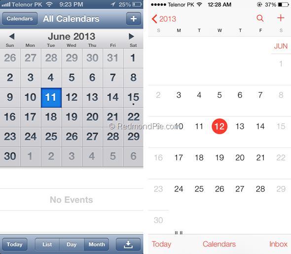 iOS 7 vs iOS 6-8