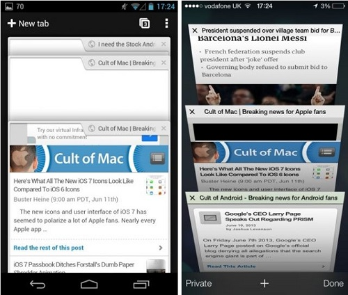 iOS 7 vs Android