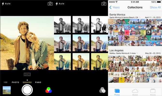 iOS 7 Fotos y Cámara