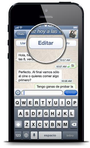 eliminar mensajes o Chats en WhatsApp